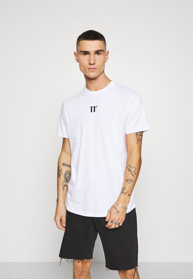 BOX GRAPHIC BACK - T-shirt med print - white/black