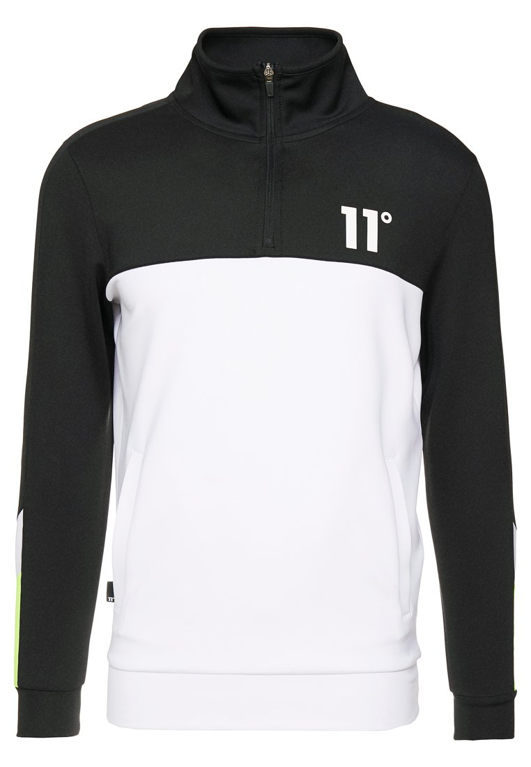 11 DEGREES - NEO POLY TRACK TOP - Long sleeved top - black/white/lime