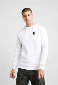 11 DEGREES - CORE HOODIE - Mikina s kapucí - white - 0