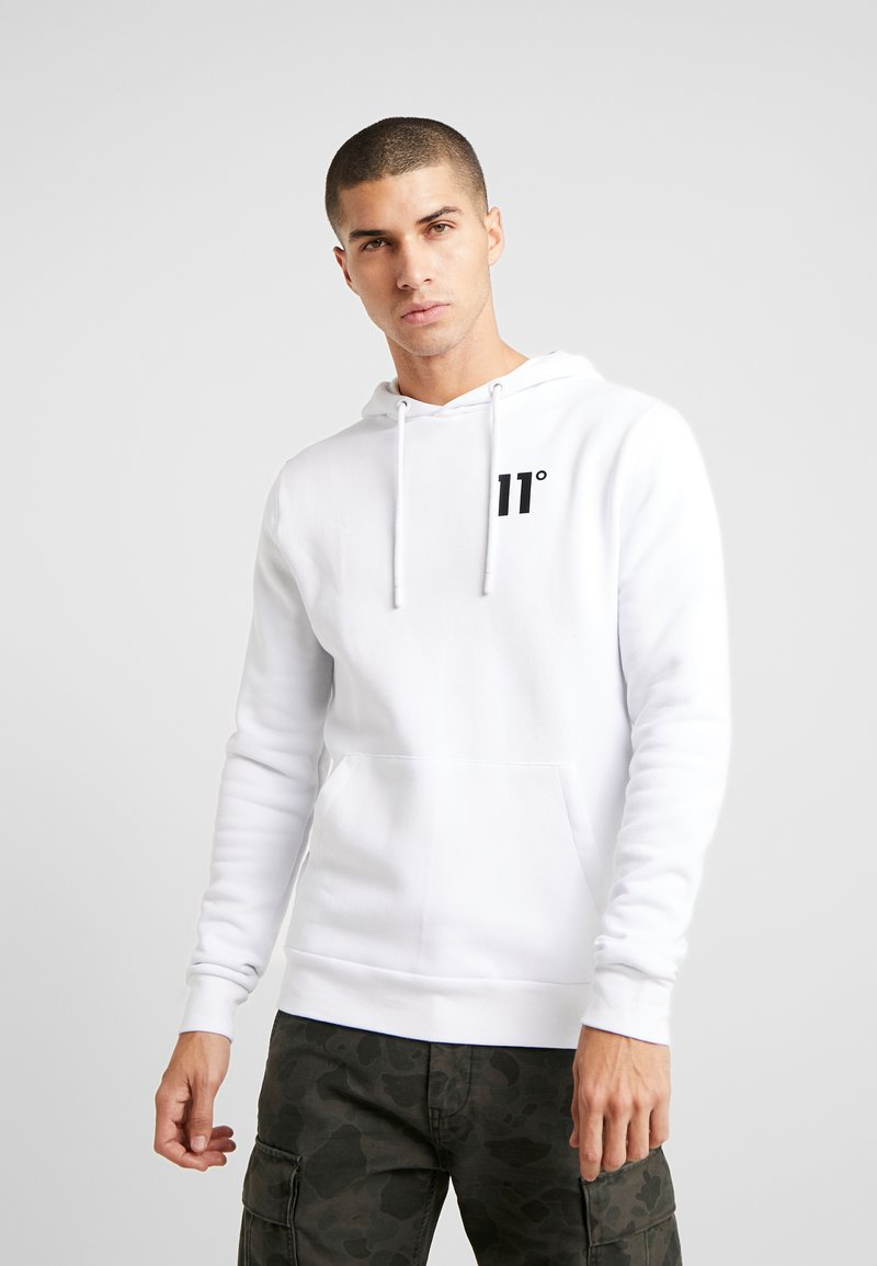 11 DEGREES - CORE HOODIE - Mikina s kapucí - white