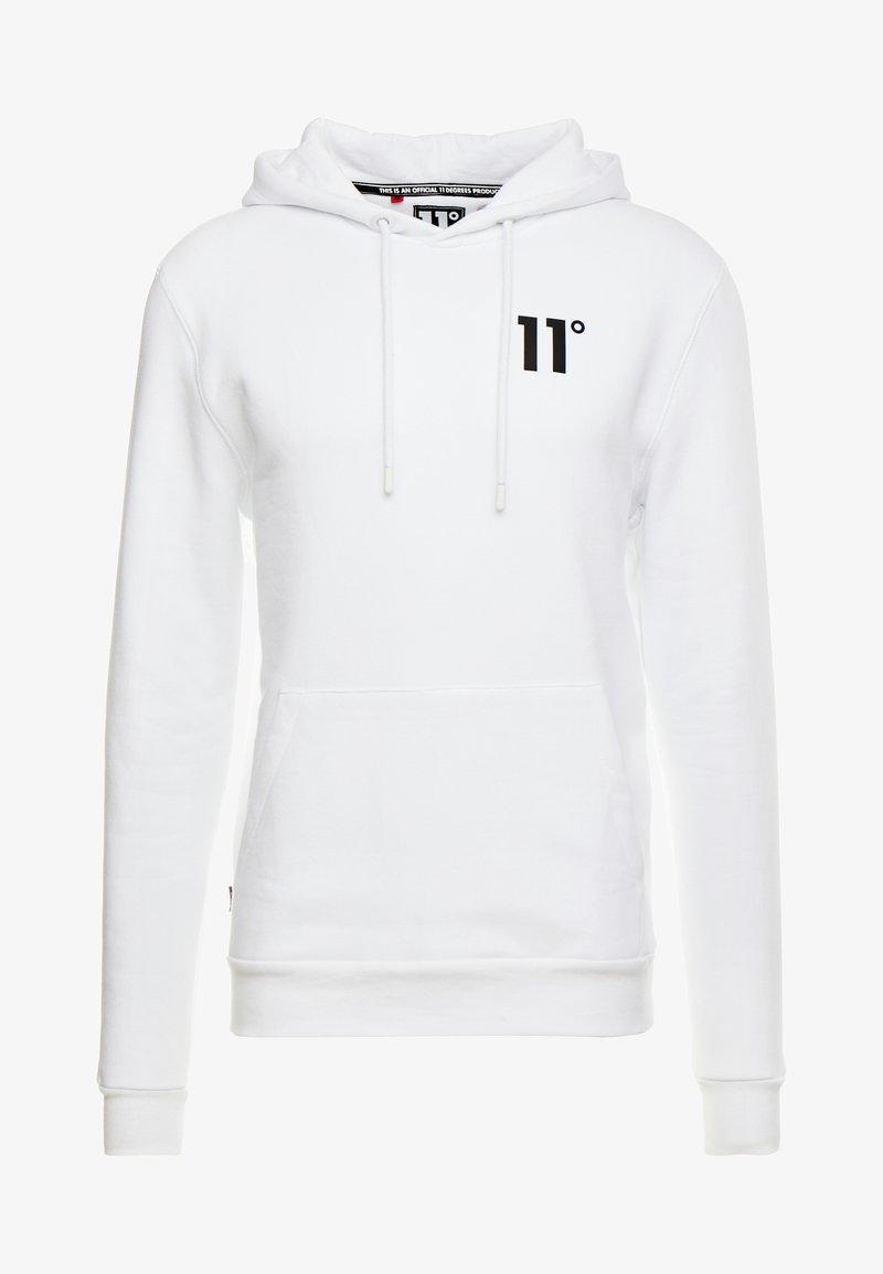11 DEGREES CORE HOODIE - Hoodie - white