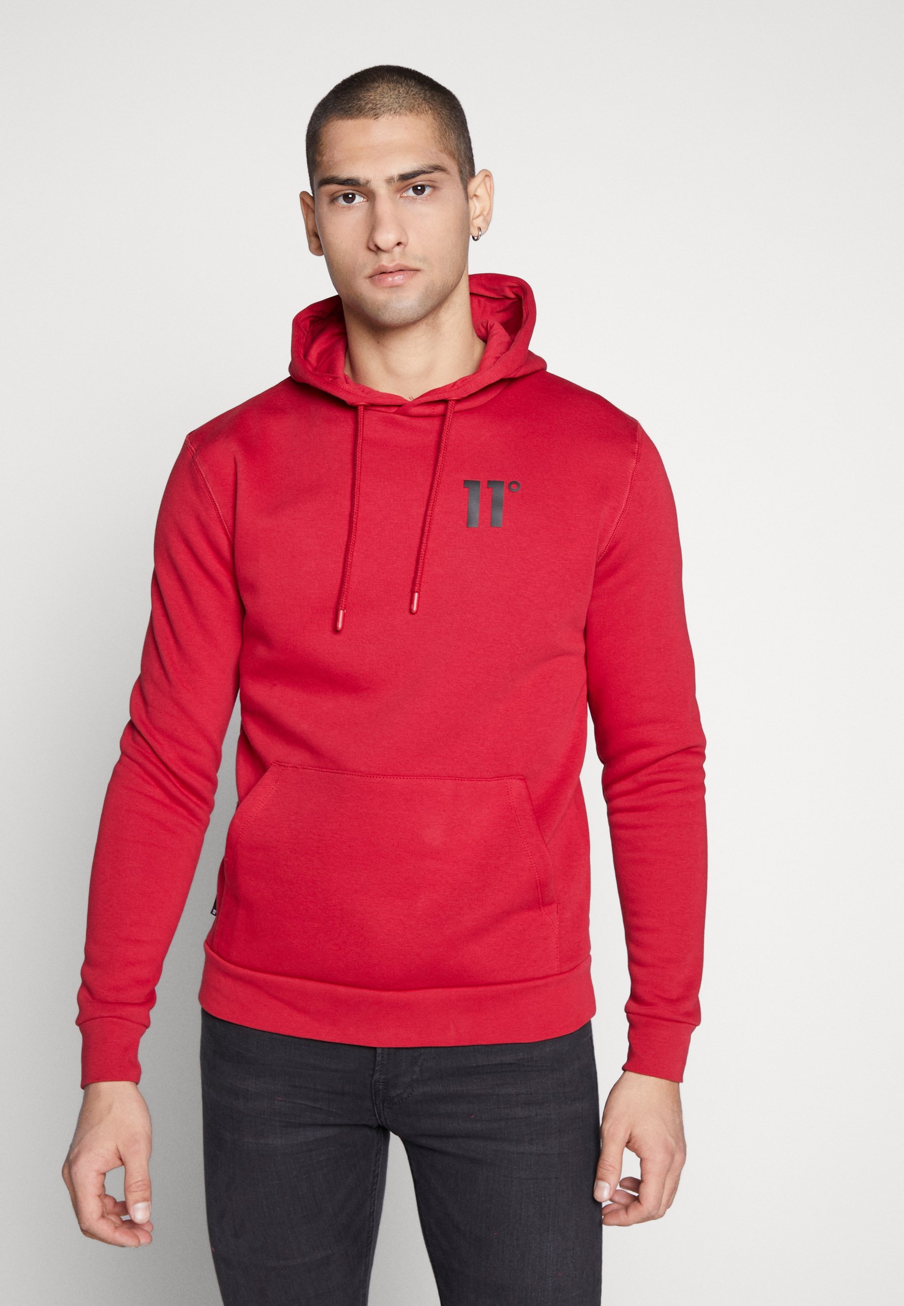11 DEGREES CORE HOODIE - Bluza z kapturem - ski patrol red