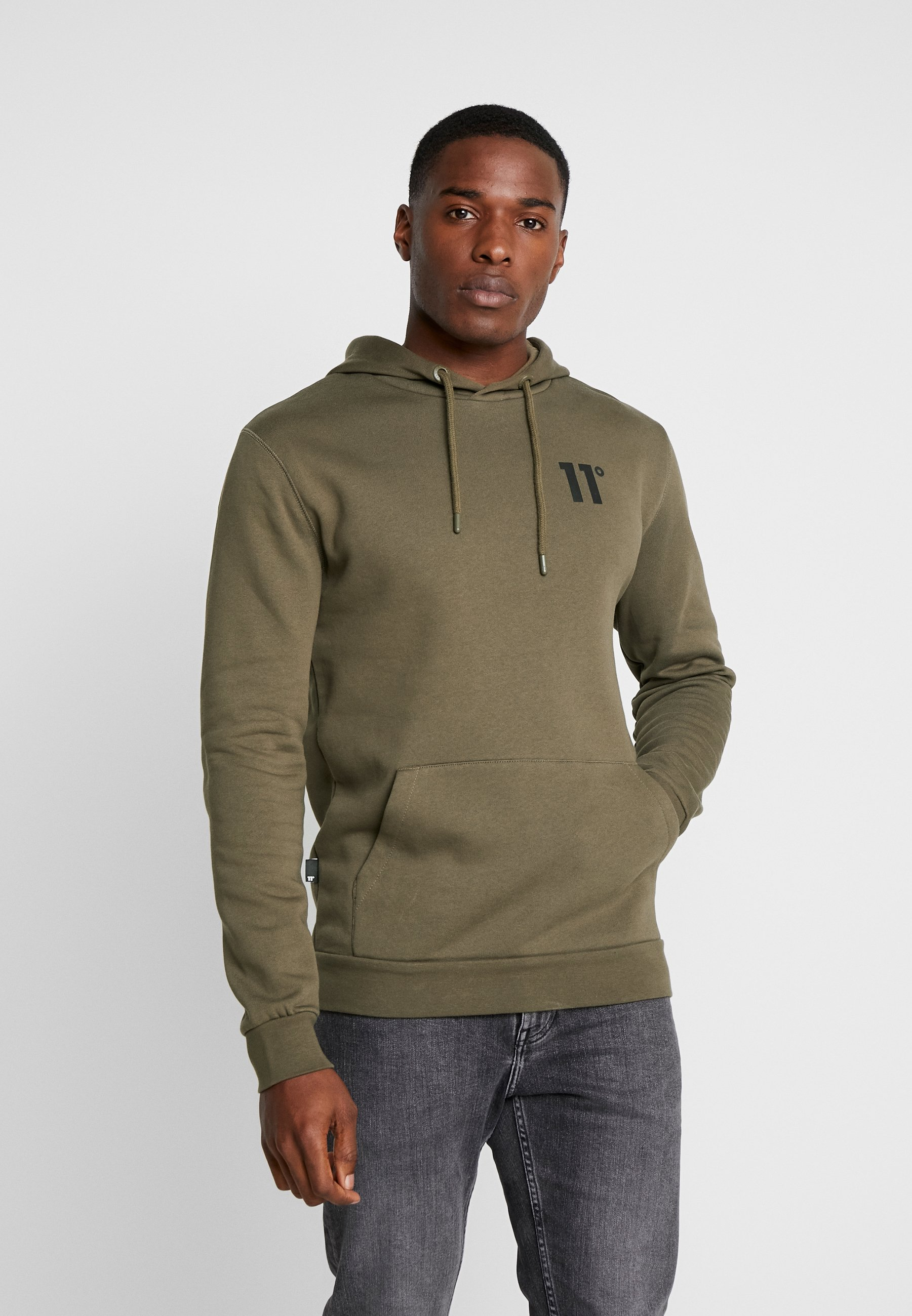 11 DEGREES CORE HOODIE - Bluza z kapturem - khaki