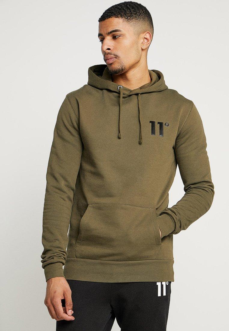 11 DEGREES - CORE HOODIE - Jersey con capucha - khaki