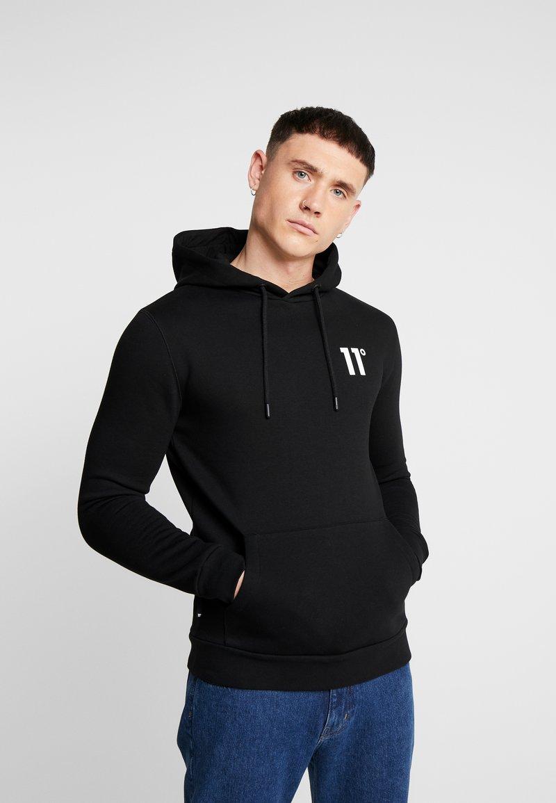11 DEGREES - CORE HOODIE - Jersey con capucha - black