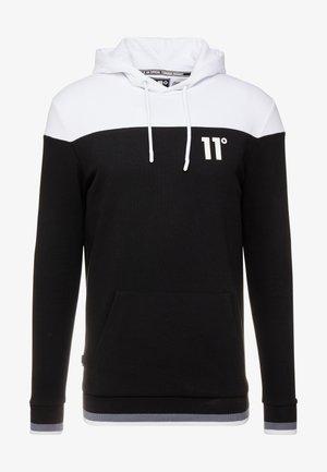 CUT & SEW RIBBED OVERHEAD HOODIE - Bluza z kapturem - white/black