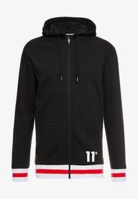 11 DEGREES - FULL ZIP HOODIE - Bluza rozpinana - black - 4