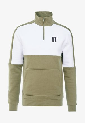 QUARTER ZIP WITH UTILITY POCKETS - Sweatshirt - khaki