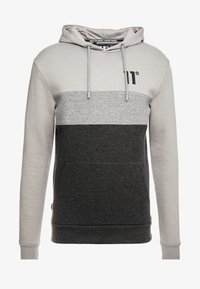 11 DEGREES - TRIPLE PANEL HOODIE - Mikina skapucí - anthracite marl/mid grey/silver - 3
