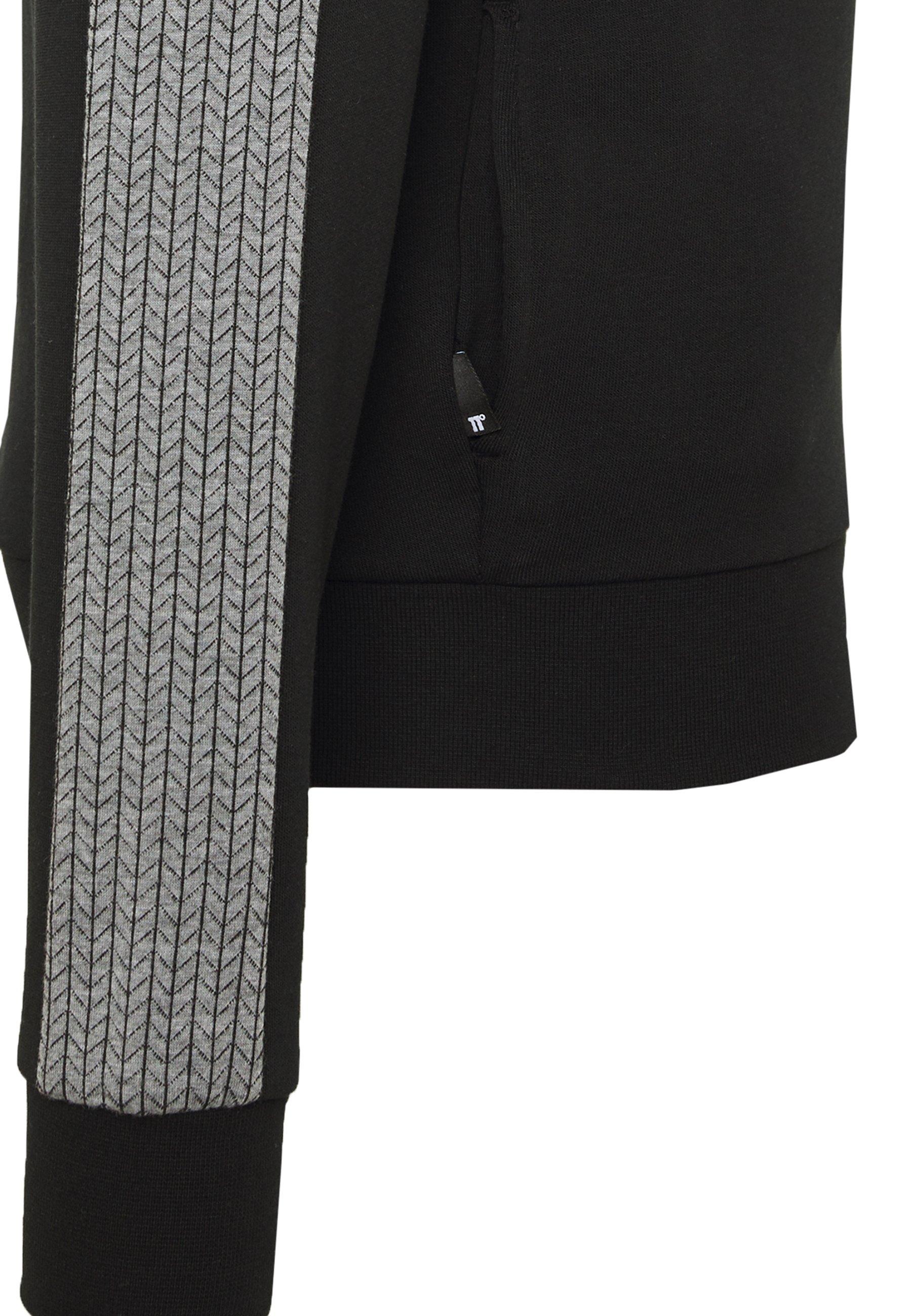 11 DEGREES HERRINGBONE  - Luvtröja - black - Herrkläder Rabatter