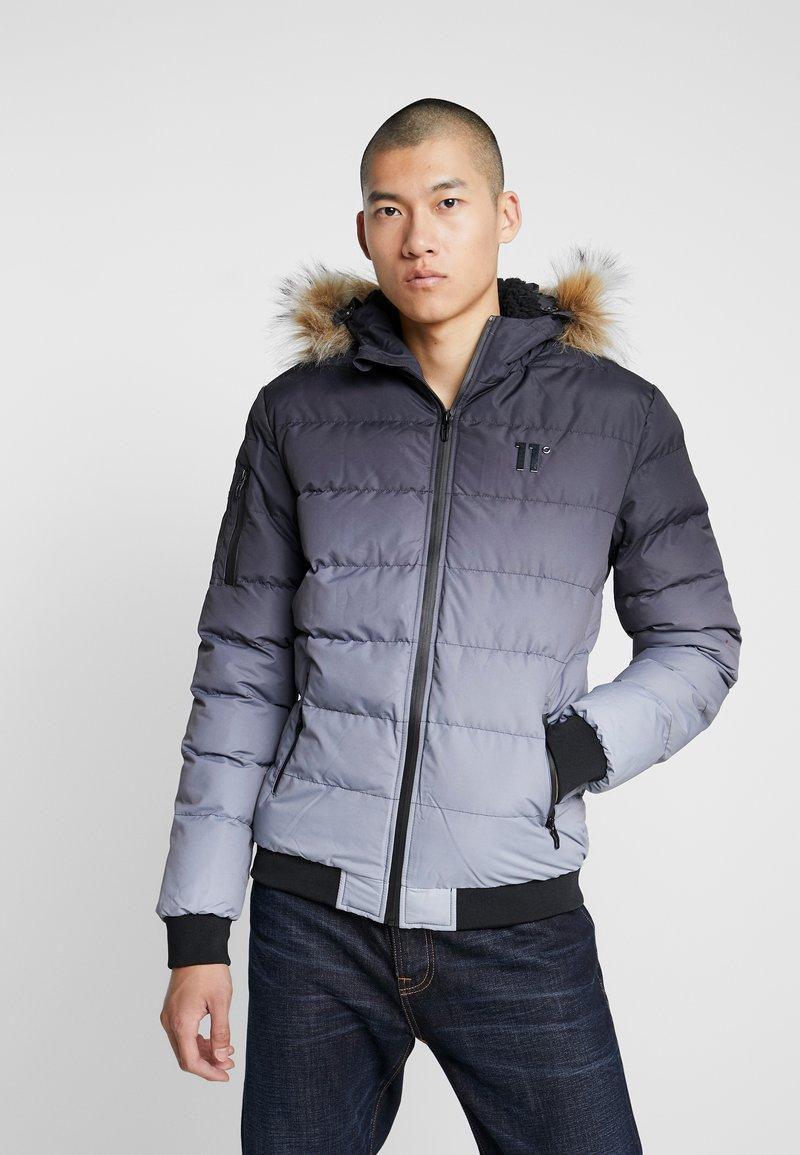 11 DEGREES - MISSLE - Lehká bunda - black/grey