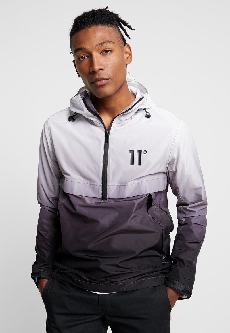 11 DEGREES - HURRICANE  - Windbreaker - black/white