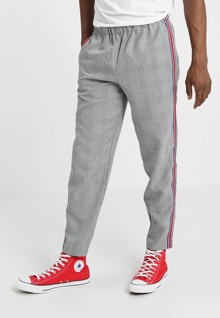 12 Midnight - RELAXED TROUSER WITH TAPE - Bukser - grey