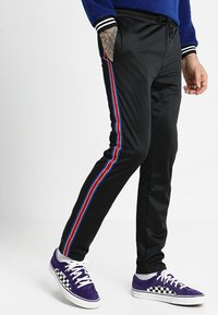 12 Midnight - HERITAGE TAPE JOGGER - Verryttelyhousut - black - 0
