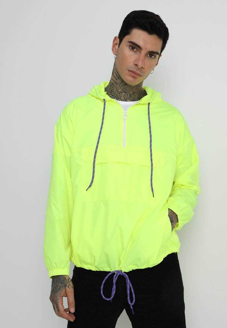12 Midnight - CONTRAST TRIM - Vindjacka - pale neon yellow