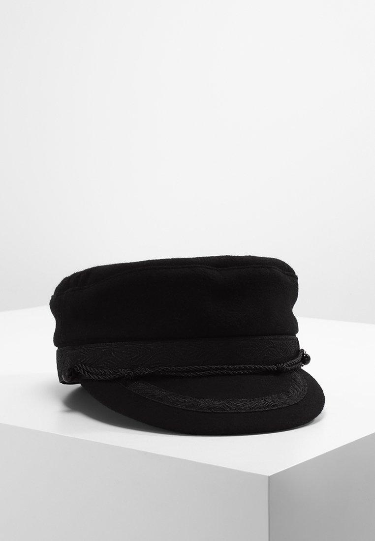 12 Midnight - EMBROIDERED BAKER BOY - Huer - black