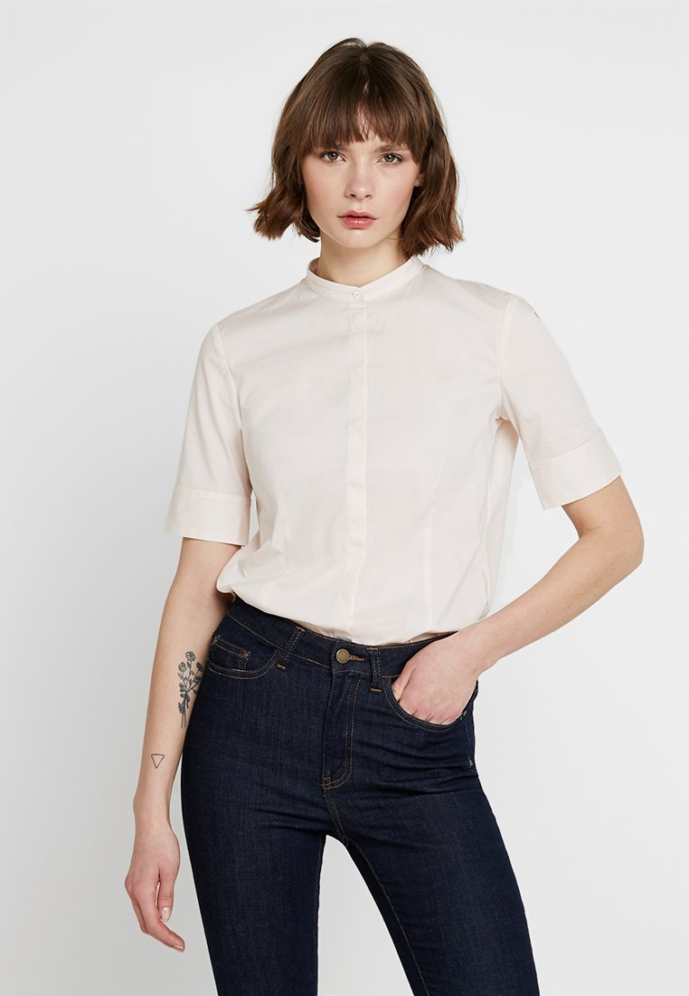 Marc O'Polo - SHORT SLEEVED STAND COLLAR - Bluse - chilly rose
