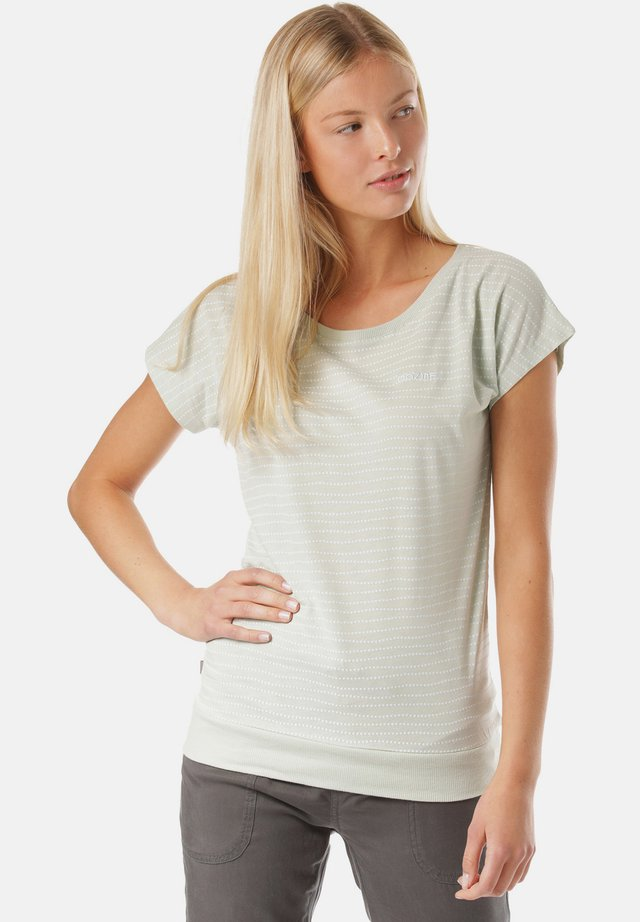 T-shirt - bas - beige, white