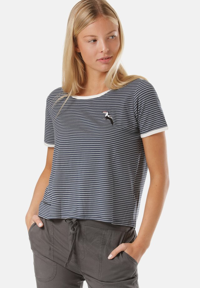 T-shirt med print - stripes,blue