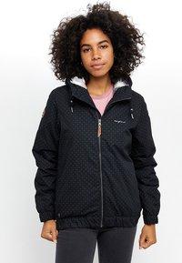 Mazine - LIBRARY - Winter jacket - mottled black - 0