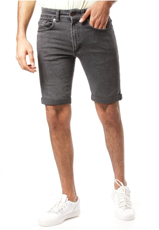 MAZINE SHORTS DENIM - Jeansshorts - grey