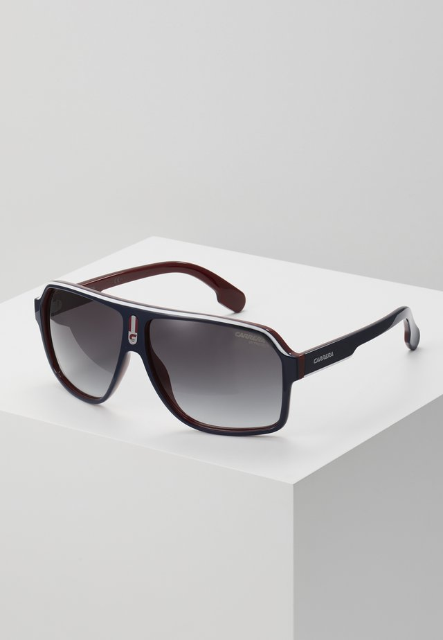 Sonnenbrille - dark blue/red/white