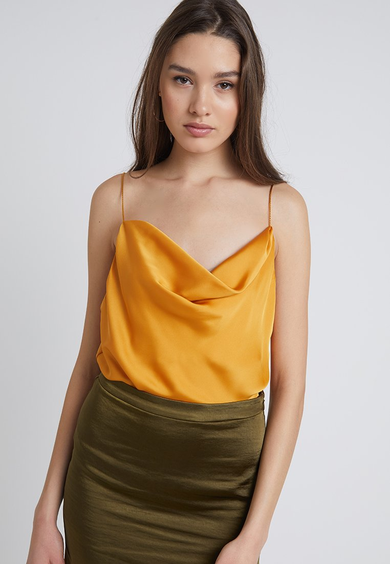 New Look - JODIE WRAP CAMI - Top - mustard
