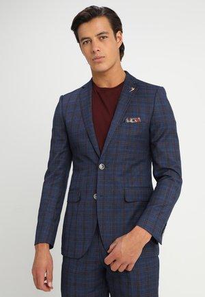 ARCHER GRID CHECK SUIT JACKET SLIM - Veste de costume - mid blue
