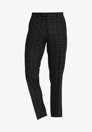 CHECK SUIT TROUSER  - Pantalón de traje - black