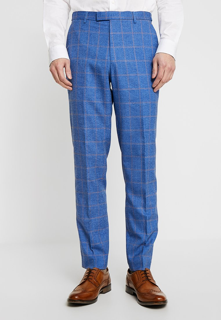 1904 - LEDGER WINDOW PANE CHECK - Pantaloni eleganti - light blue