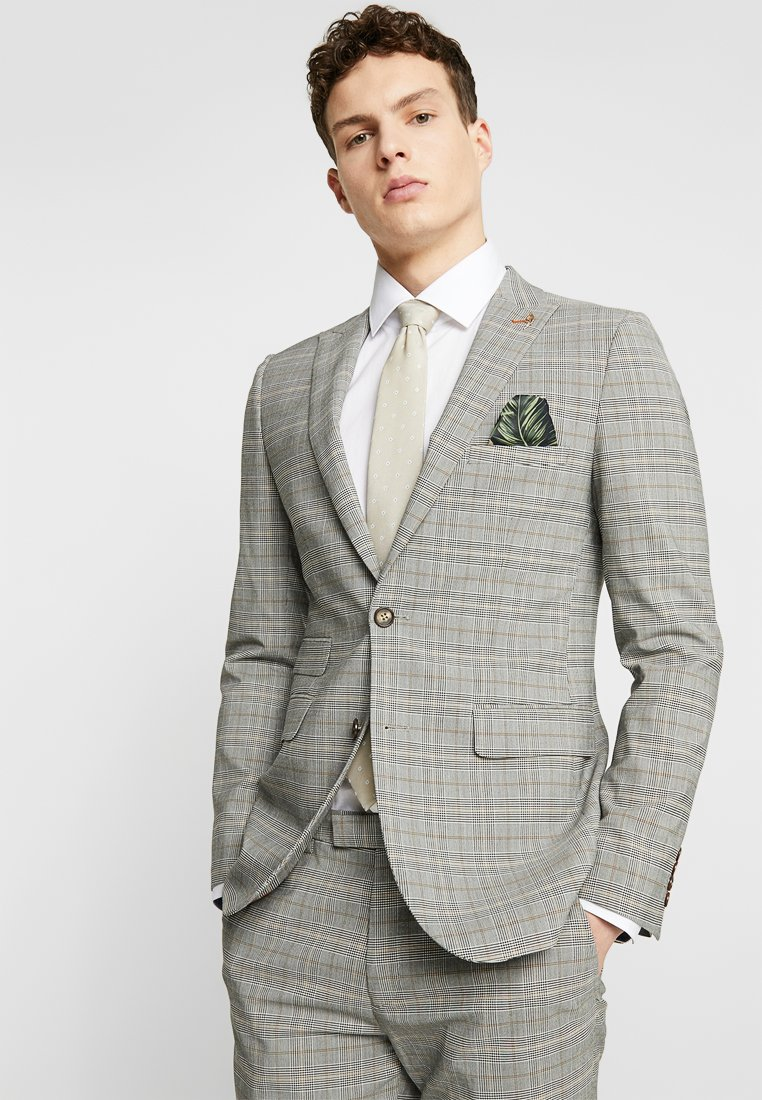 1904 - MARLON SLIM POW CHECK SUIT JACK - Giacca elegante - light grey
