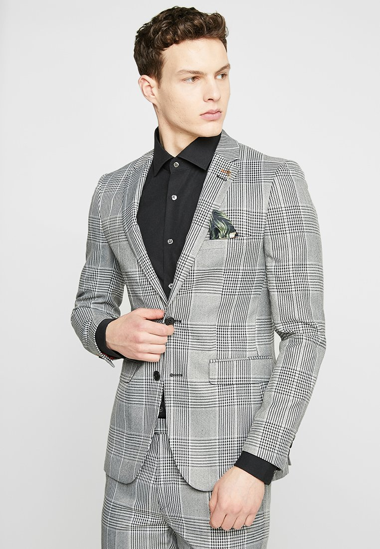 1904 - PACHINO SKINNY LARGE CHECK SUIT JACKET - Suit jacket - black