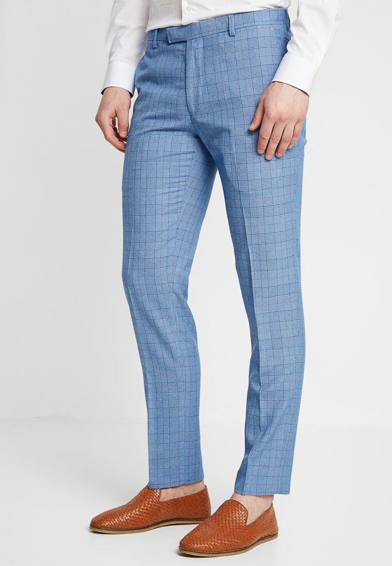 1904 - SINATRA SKINNY POW CHECK TROUSER - Pantaloni eleganti - mid blue