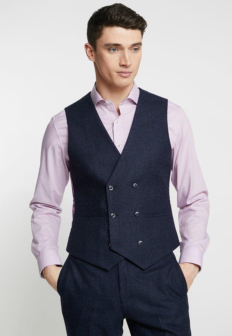1904 - EARLHAM CHECK SUIT WAISTCOAT - Suit waistcoat - navy