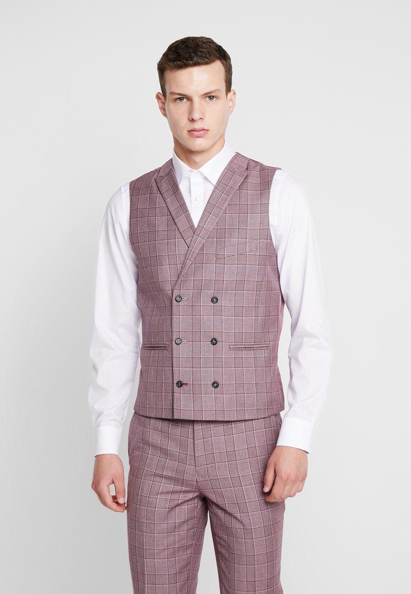 1904 - BUTLEY SKINNY FIT WAISTCOAT - Suit waistcoat - pink