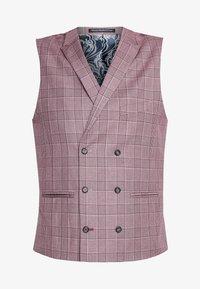 1904 - BUTLEY SKINNY FIT WAISTCOAT - Chaleco de traje - pink - 4