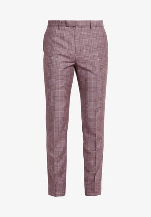 BUTLER SKINNY FIT SUIT TROUSER - Suit trousers - pink