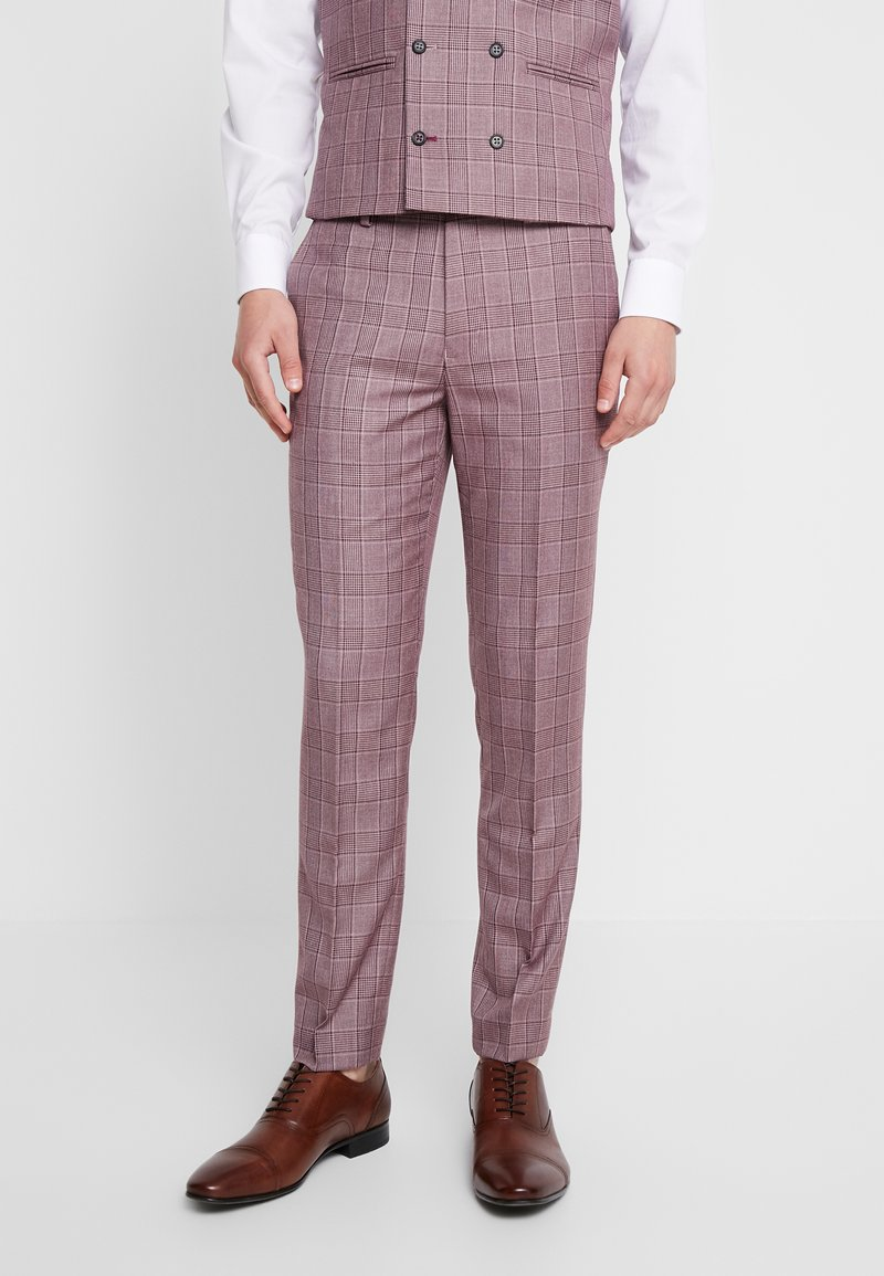 1904 - BUTLER SKINNY FIT SUIT TROUSER - Suit trousers - pink