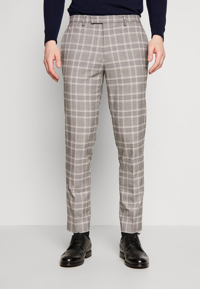 COOK POW CHECK - Suit trousers - grey