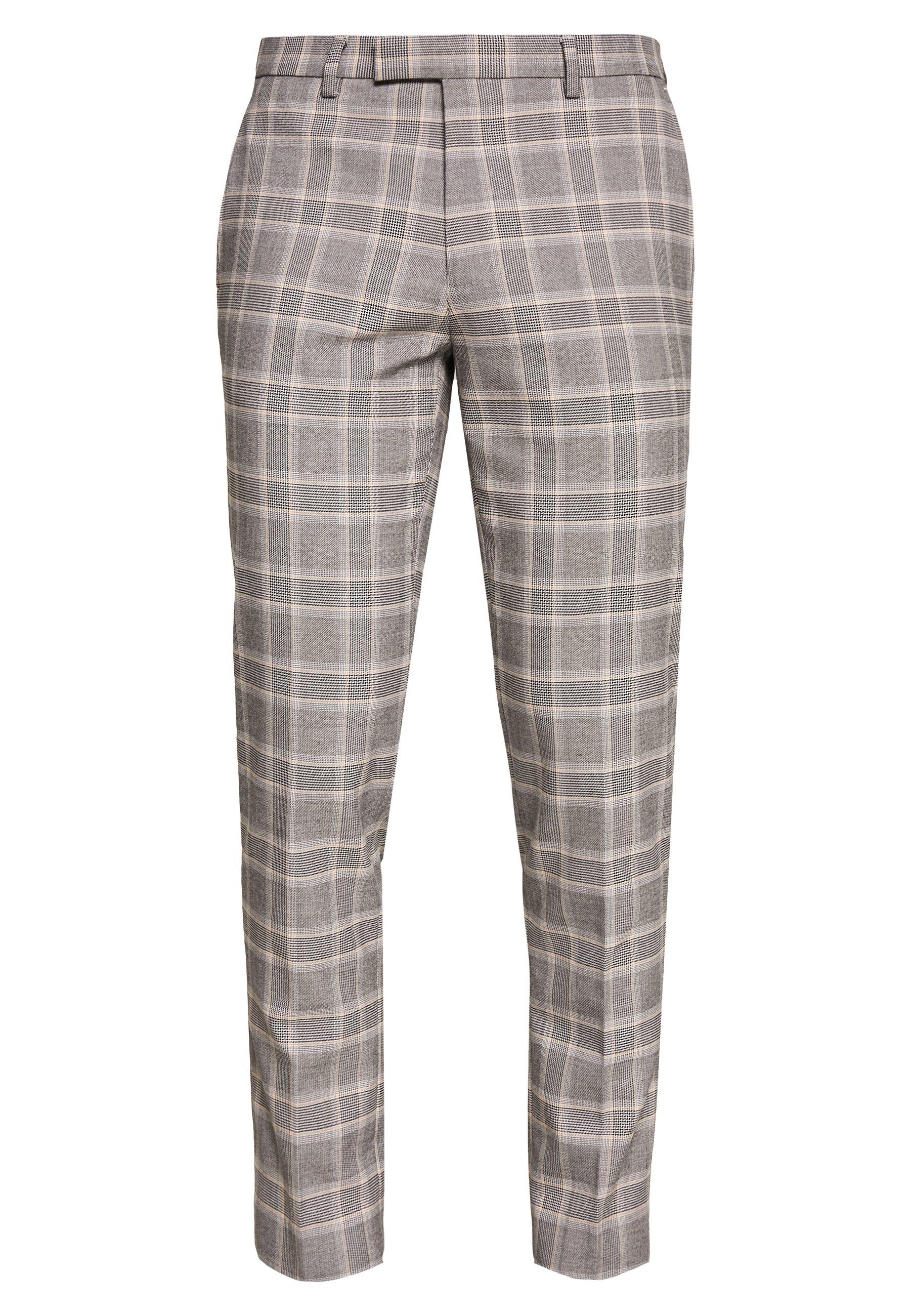 1904 Cook Pow Check - Kostymbyxor Grey