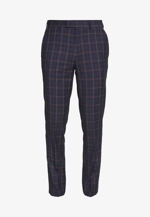 CORTES CHECK - Pantaloni eleganti - navy