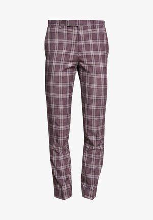 DARWIN SUIT BURG - Suit trousers - purple melange