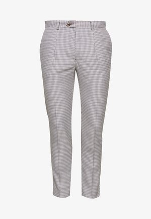 POULSDEN TAPERED GINGHAM - Spodnie garniturowe - blue