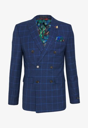 DRAKE DOGTOOTH SKINNY - Suit jacket - navy