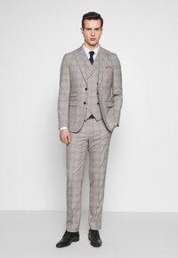 1904 - JASPE CHECK TROUSER SKINNY - Pantaloni eleganti - mid grey - 1