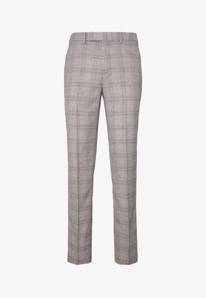 JASPE CHECK TROUSER SKINNY - Suit trousers - mid grey