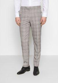 1904 - JASPE CHECK TROUSER SKINNY - Pantaloni eleganti - mid grey - 0