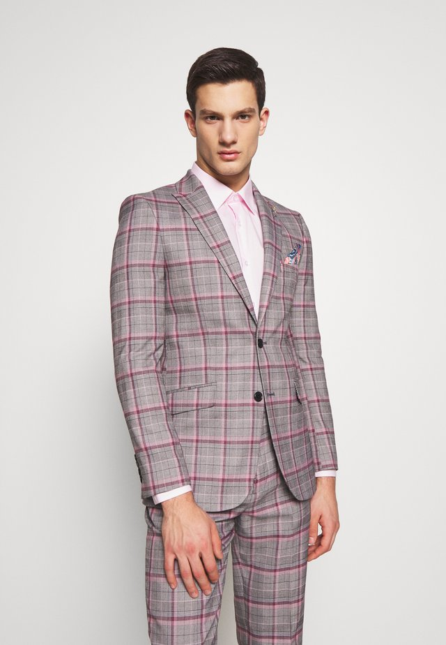 RAILEIGH CHECK JACKET - Suit jacket - mid grey