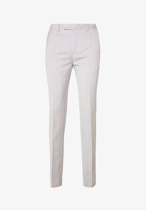 BONE STRIPE TROUSER SKINNY - Pantaloni eleganti - grey