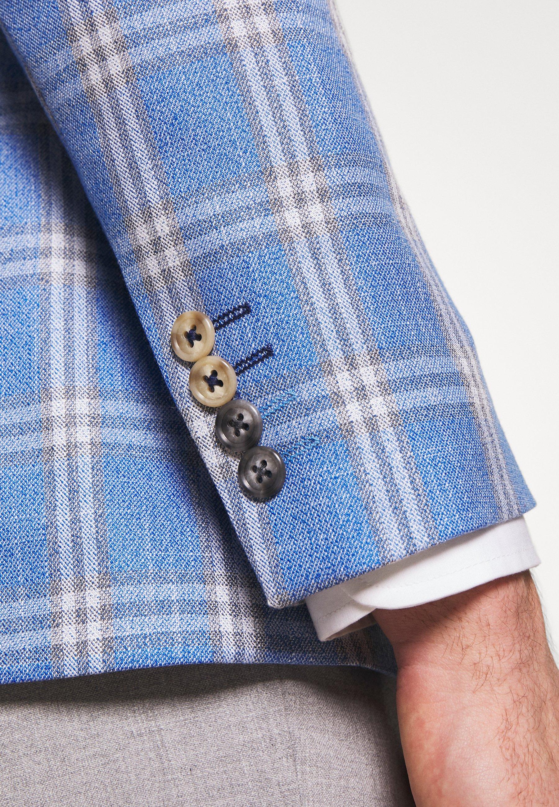 1904 Asher Grid Check Jacket - Colbert Light Blue